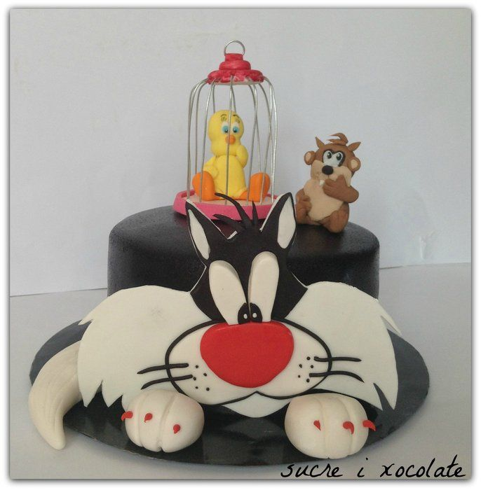 Sylvester and Tweety - by sucreixocolate @ CakesDecor.com - cake decorating website