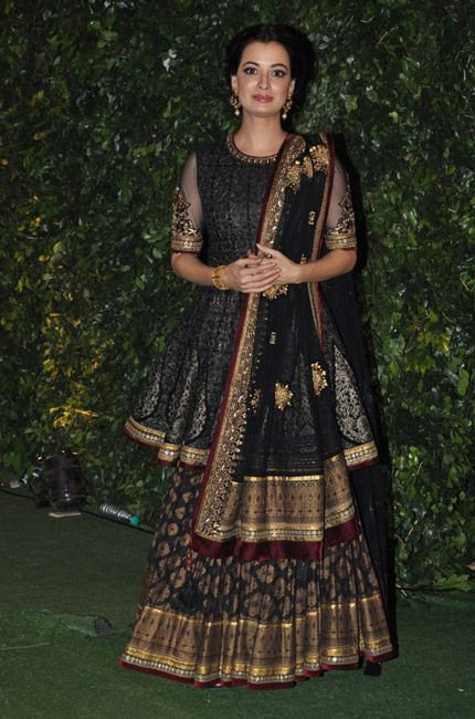 Dia Mirza in Payal Singhal outfit.