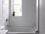 brick shape tile with darker grout