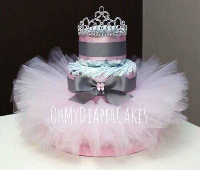 Nice 3 Tier Princess Diaper Cake, 2 Styles, Tutu Diaper Cake, Tiara Diaper Cake,  Diaper Cake For Girl, Girl Baby Shower, Princess Baby Shower