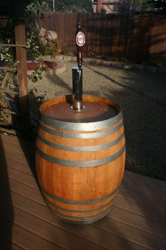 Wine Barrel Portable Beer Dispenser Kegerator Jockey Box. $300.00, via Etsy.