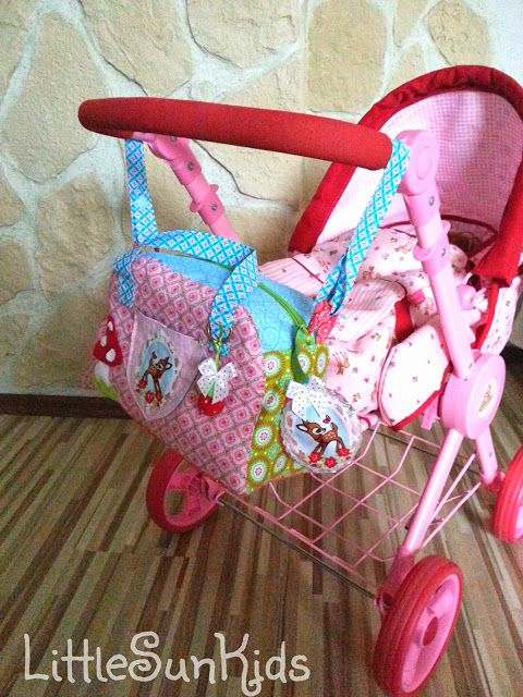 ♥ ♥ LittleSunKids: dolls diaper bag with all the trimmings