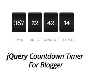 How to Add jQuery Countdown Timer Widget in Blogger