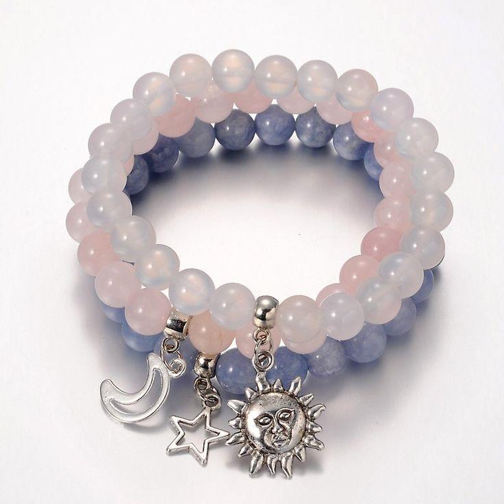 Tibetan Style Star & Moon & Sun Alloy Charm Bracelets from Pandahall.com