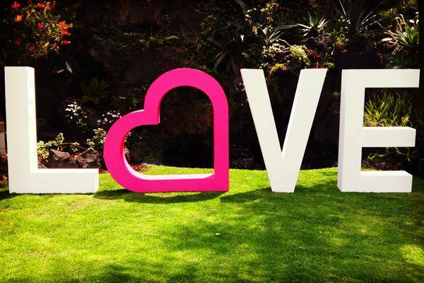 Decoracion Letras Boda ~ Letras gigantes para boda con Dilo en Grande #bodas #