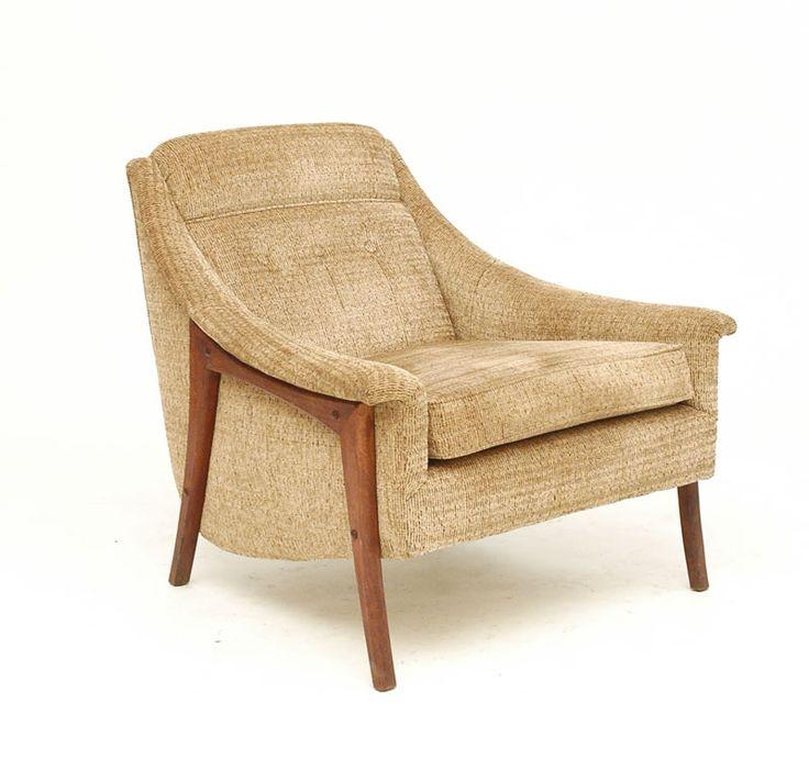Tan Danish Modern Armchair