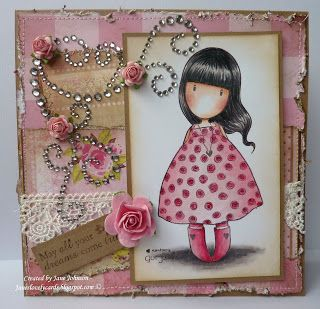 1/14/2012; Jane at 'Jane's Lovely Cards' blog; Gorjuss Girls