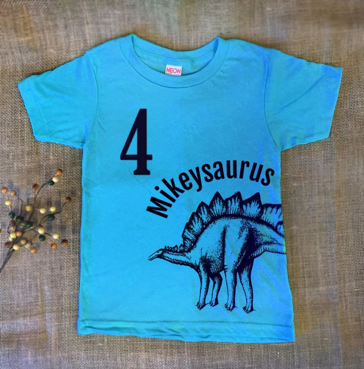 Customized Dinosaur Birthday Shirt - Personalized Kids Dinosaur TShirt - Name Shirt - Toddler Dinosaur Shirt - Boys Dinosaur T shirt - Blue by OXHIP on Etsy https://www.etsy.com/au/listing/249021729/customized-dinosaur-birthday-shirt
