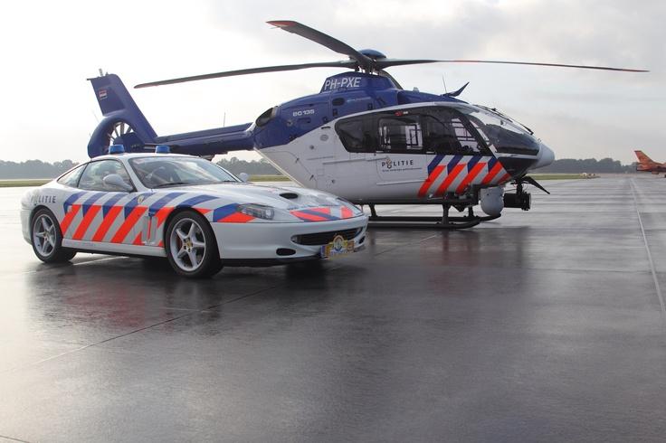 Politie, police, Ferrari, helicopter, ec135