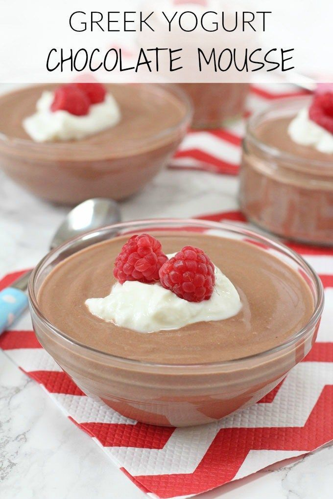 A delicious, light and healthier Chocolate Mousse recipe made with greek yogurt…