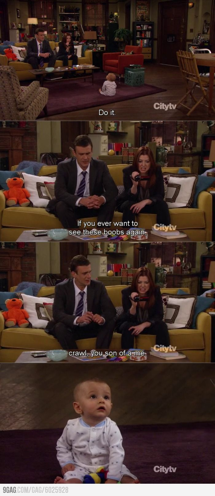 How I Met Your Mother // baby crawling // I am starting to feel like this! ;)