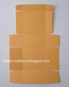 Bettys-creations: Anleitung: Faltbox mit Klappdeckel