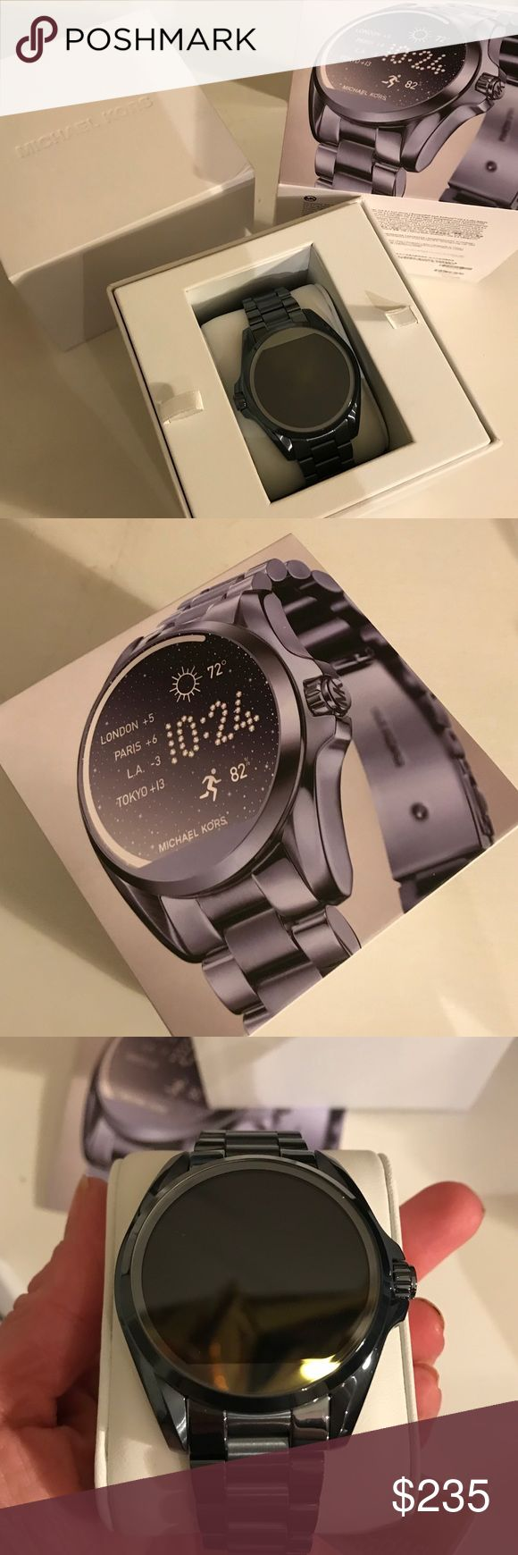 🎀NEW🎀MICHAEL KORS Bradshaw Gunmetal Smartwatch 🎀MICHAEL KORS🎀 Bradshaw Gunmetal Smartwatch. This is brand new!  Hard to find gunmetal color!  Compatible with iPhones and Androids❌NO TRADING OR HOLDING. ❌PRICE IS FIRM ❌ Michael Kors Accessories Watches