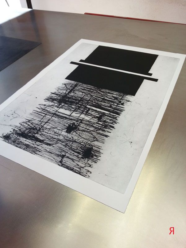 Jacqueline Aust | dry point and carborundum on plastic plate | Art Print Residence
