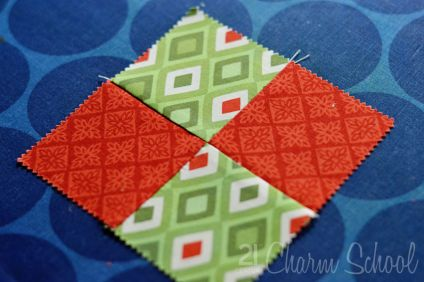 You Can Quilt. Simple tutorial for your first four-patch block!