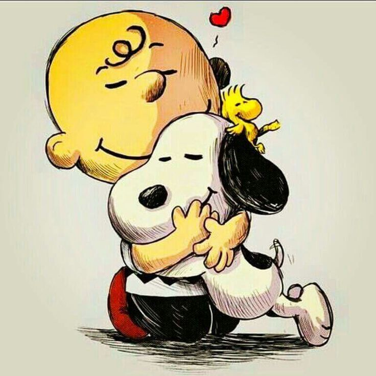 Snoopy ❤ Charlie Brown and Woodstock ❤