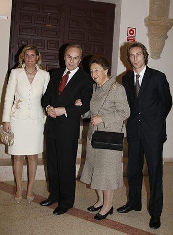 Margarita de Borbon en famille