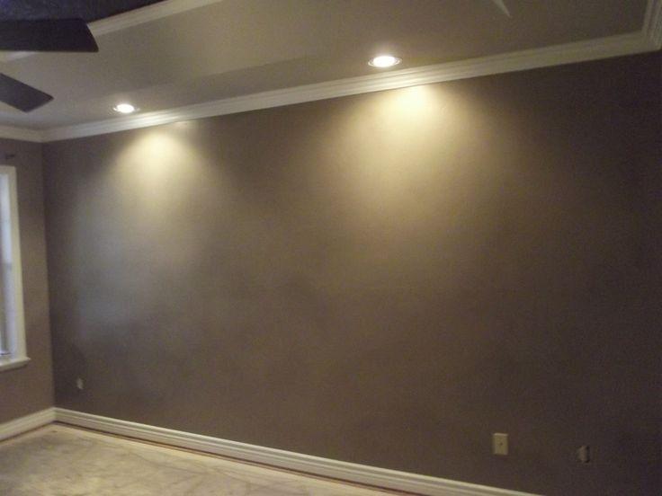 metallic finish on master bedroom