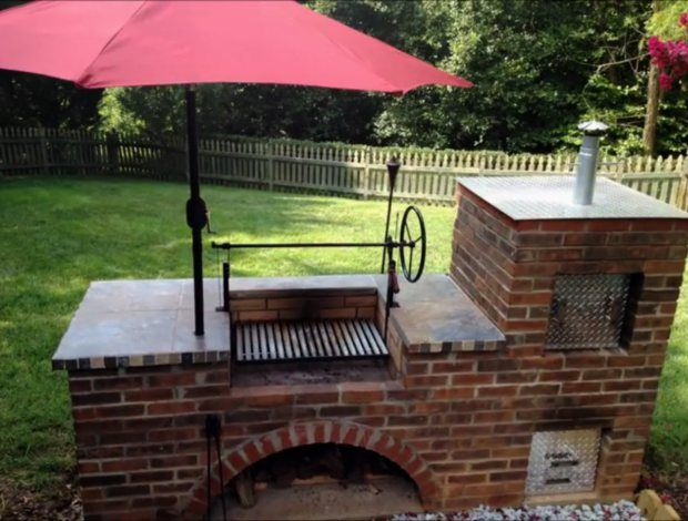 17 best ideas about brick grill on pinterest diy grill for Building outside design