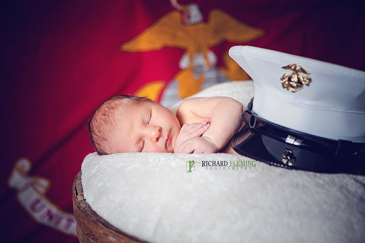 Newborns Photos by Richard Fleming Photography. US Marines Military Life Baby Photography Summer Session Jacksonville, Fl