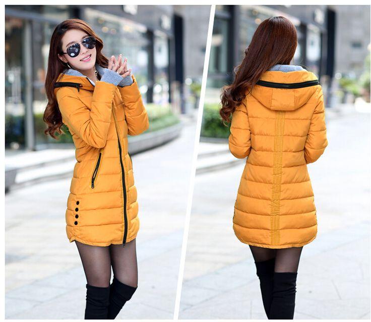 Wholesale Product Snapshot Product name is 2014 ватные куртка женская зимняя куртка верхняя одежда женщин тонкий девушка куртка средней длины хлопка-ватник розовый пальто дамы