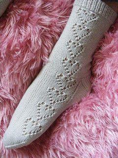 Knit Heart Socks free pattern