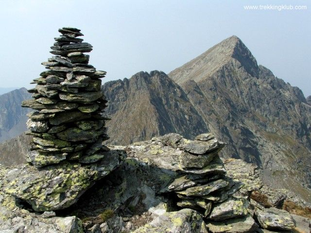 August 3, 2013 - Negoiu peak from Caltun, Fagaras Mountains, Romania