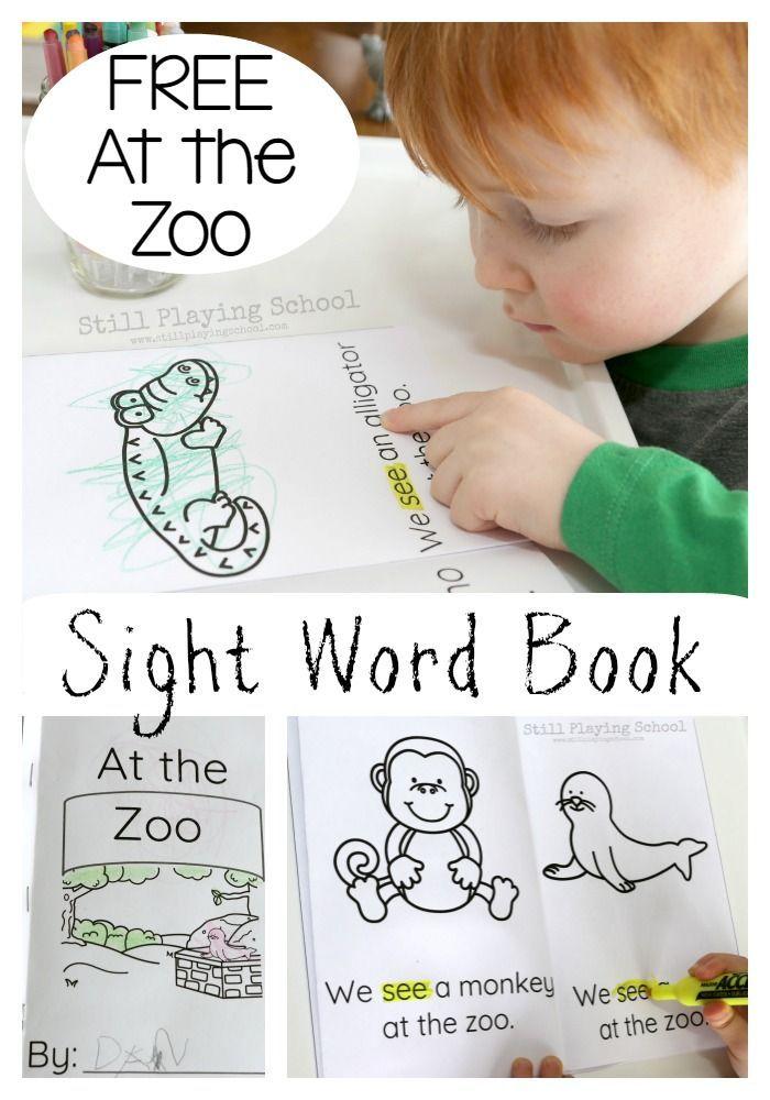 Zoo Emergent Reader Sight Word Book | Zoo phonics, Zoo ...