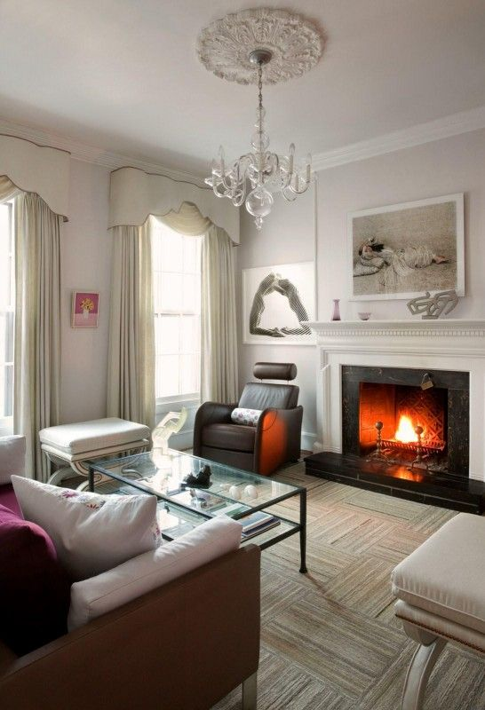 Simple yet elegant living spaces mostly white design - Simple elegant living room design ...