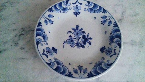 Royal Delft Iconic Saucer.  De Porceleyne Fles. by ONECROWNEDCRANE