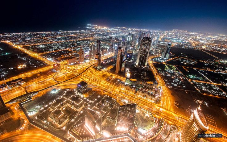 Dubai at night  Photo by: RemydeKlein.com © #cityphotography #nightphotography #nightcity #nightlights #dubai #remydeklein