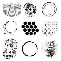 Šablona TCW / Well Rounded | The Crafters Workshop | Masky a šablony | SCRAPBOOK | eShop | Polymerová hmota, kurzy fimo, eshop – Nemravka