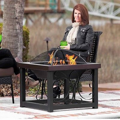 Fire Pits On Sale Cocktail Table Wood Burning Charcoal Log Storage Patio Outdoor
