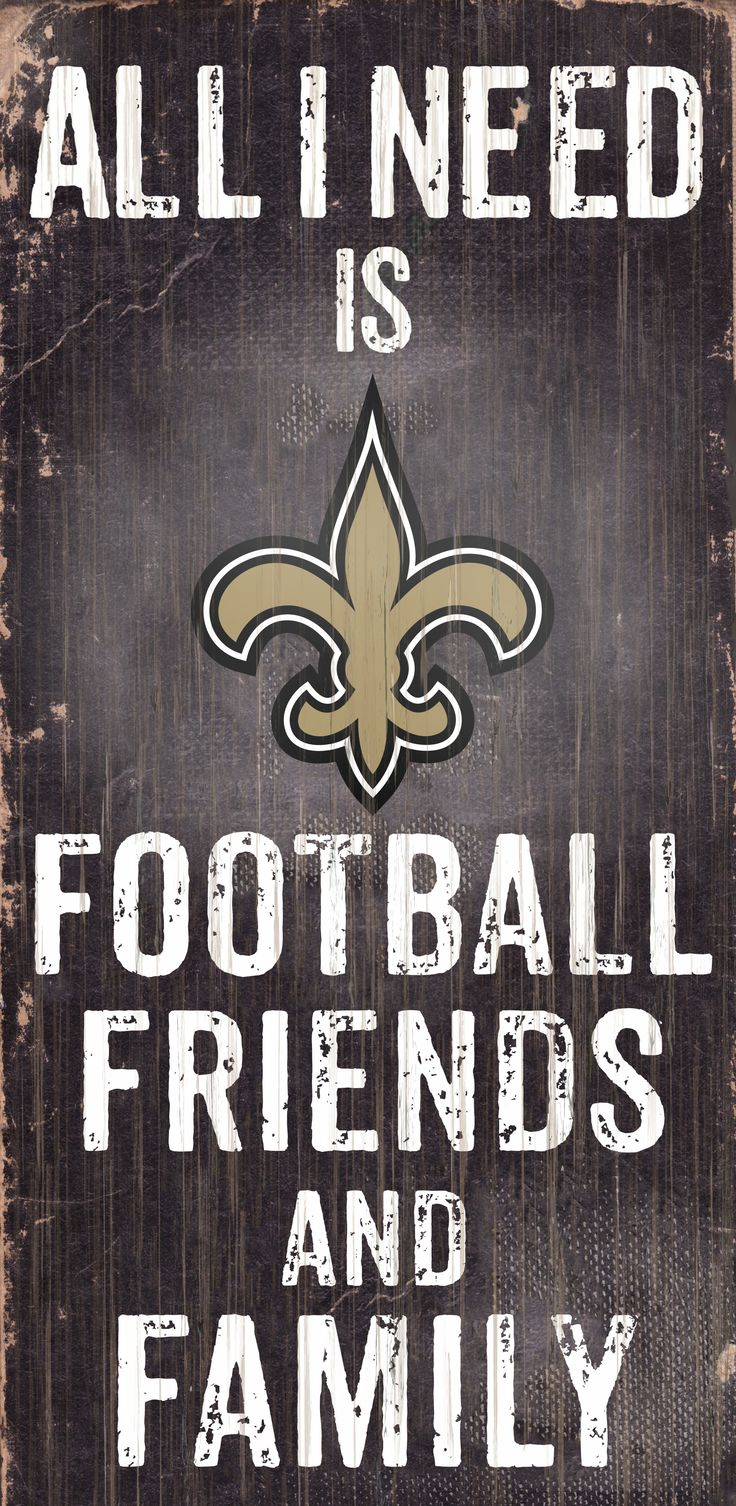 """~New Orleans Saints Wood Sign - Football Friends and Family - 6""""x12""""~backorder"""