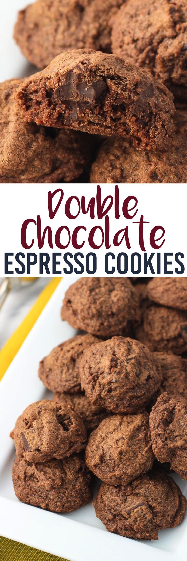 Double chocolate espresso cookies are simple to make and feature a deep chocolate flavor that's brought out even more by espresso powder. Chocolate chunks round out these soft, hearty cookies.