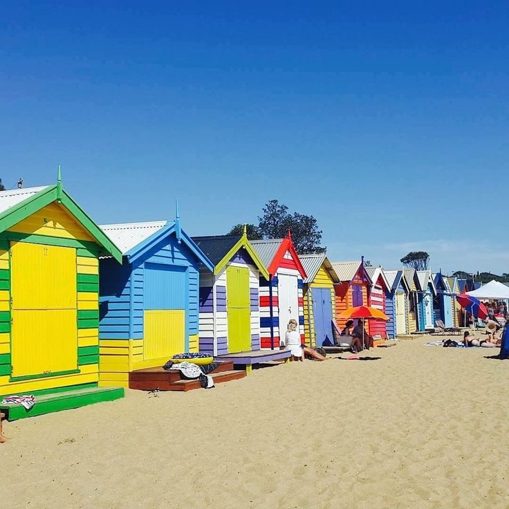 Here's @19Celina enjoying some time away from the english lessons.   She's proving that Melbourne's colourful beach huts are the perfect backdrop for a photo!   Share your language travel pictures with #SMLmatka 📸  #kielimatka #kielikurssi #SMLmatka  #språkresa #kielimatkat #englishcourses #study  #sml #suomi #finland  #student #students #studyabroad #travel  #Melbourne #australia