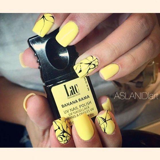 Banana Rama #LacSensation #semipermanent #manicure by @aslanidi_anastasia