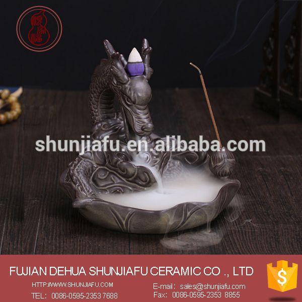 Creative ceramic dragon incense burner