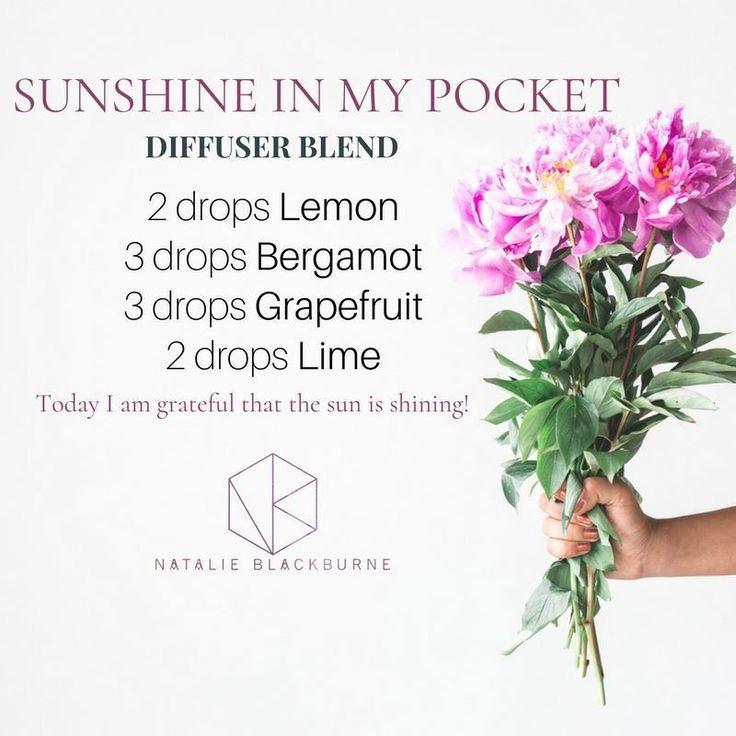 Natalie Blackburne - Doterra Sunshine In My Pocket diffuser blend #aromatherapysleepblends