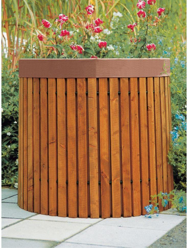Recuperateur eau de pluie avec filtre Ideanature en bois