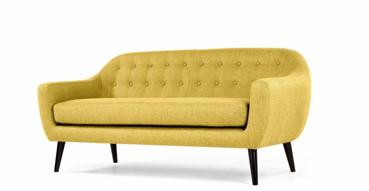 Ritchie 3 Seater Sofa in ochre yellow | made.com
