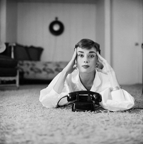6. 1953 Audrey Hepburn at her Beverly Hills apartment, 1953. Photograph by Mark Shaw