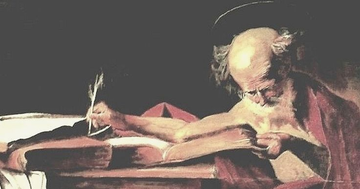 Saint Jerome writing.Falsario  di Caravaggio