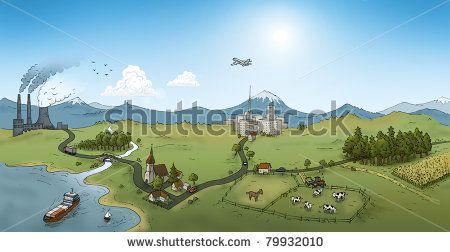 urban landscape, illustration