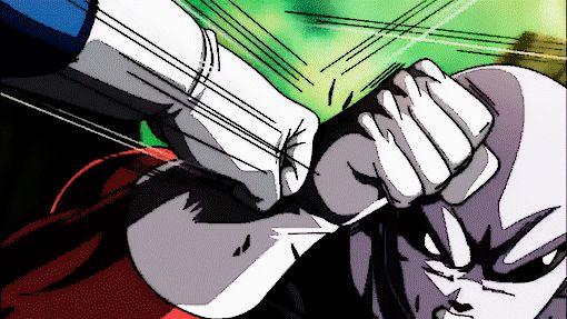Super Saiyan Blue Vegeta! vs Jiren! vegetarian landed a hit two clean blows!