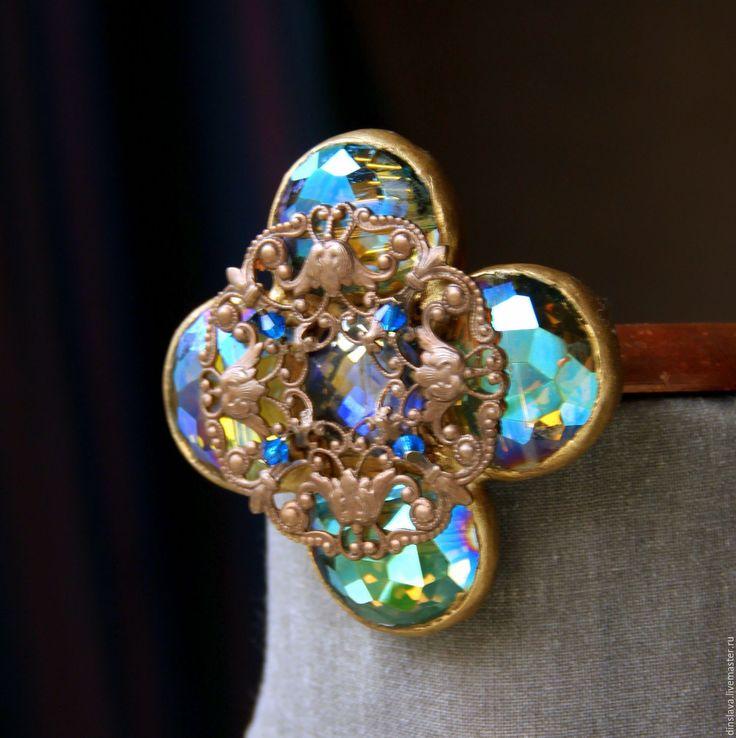 """Купить Брошь из кристаллов - """"Версаль"""". - брошь, брошка, ретро стиль, брошь купить, брошь ретро"""