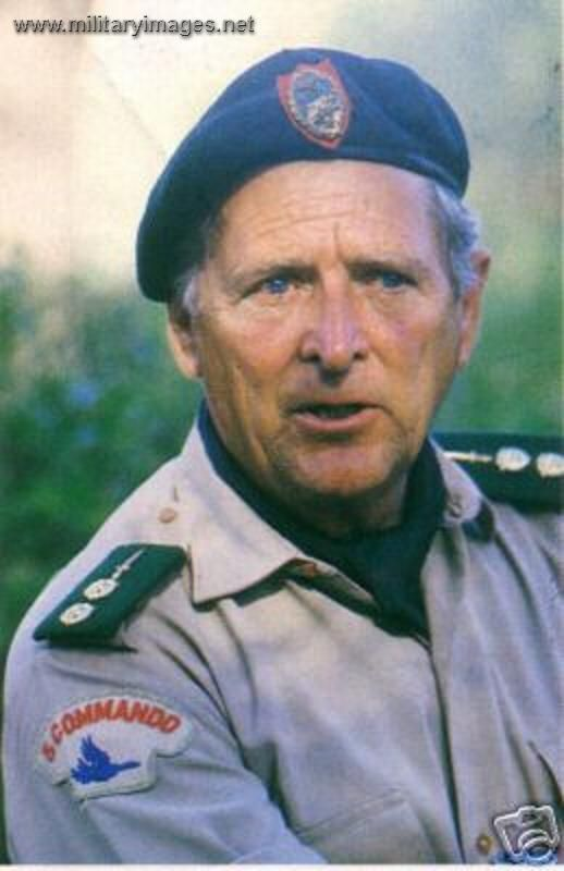 Mike Hoare -a mercenary leader known for military activities in Africa and his failed attempt to conduct a coup d'état in the Seychelles.