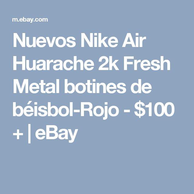 NEW Nike Air Huarache 2K Fresh Metal Baseball Cleats- Red- $100+