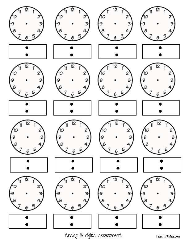 22 best Telling Time Printables images on Pinterest Places to - clock templates