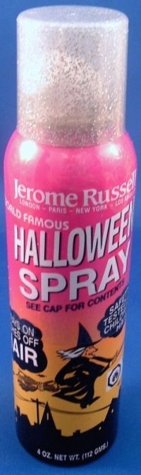 Jerome Russell Silver Glitter Hair Spray 4 oz Can Halloween